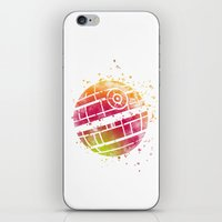 death star iPhone & iPod Skins featuring Star . Wars Death Star by Carma Zoe