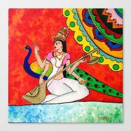 Saraswathi Canvas Print