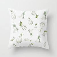 cactus Throw Pillows featuring Cactus by Barbara Amaral