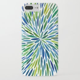 Watercolor Burst – Blue & Green iPhone Case