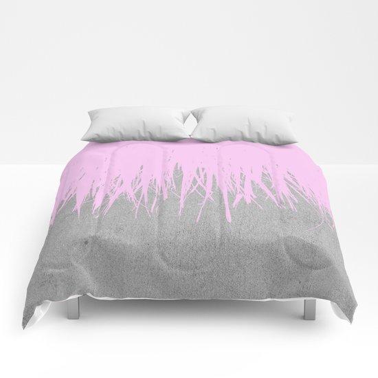 Concrete Fringe Blush Comforters