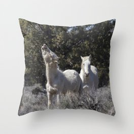 Happy Traveler with Mom and Pallaton Throw Pillow