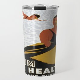 Vintage poster - Swim for Health Travel Mug