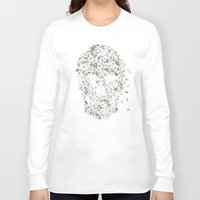 death Long Sleeve T-shirts featuring A Beautiful Death - mono by Terry Fan