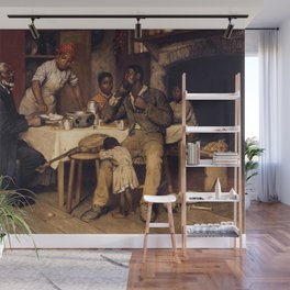 African American Masterpiece 'A Pastoral Visit' by Richard Norris Brooke Wall Mural
