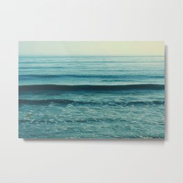 beach waves. Somewhere Metal Print