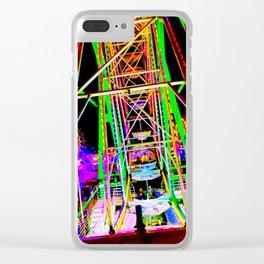 Trippy Ferris Wheel Clear iPhone Case