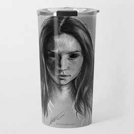 """Gooverly"" Demon Gray Drawing Travel Mug"