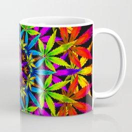 Stoners' Mandala Cannabis Leaves Coffee Mug