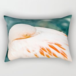 Sleepy Flamingo Rectangular Pillow