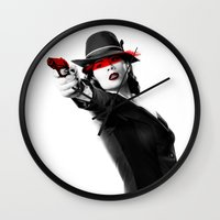 agent carter Wall Clocks featuring Peggy Carter by Long live the Evil Queen♔