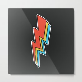 Rock Lightning Metal Print
