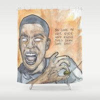 oitnb Shower Curtains featuring Poussey OITNB by Ashley Rowe
