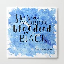 Warrior in Black Metal Print