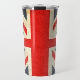 Vintage Union Jack British Flag Travel Mug