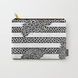 Stripes & Flowers Carry-All Pouch