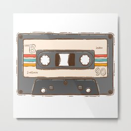 B Side Tape Cassette Metal Print