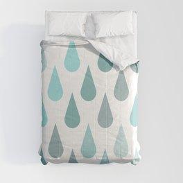 Rain Raindrops Comforters