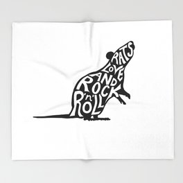 Rats Love and Rock 'n' Roll Throw Blanket