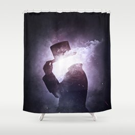 Interstellar +1 ~Saludo Shower Curtain