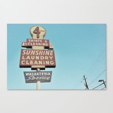Sunshine Laundry Cleaning Canvas Print