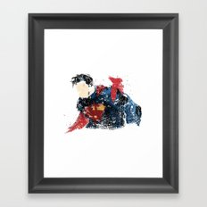 $uperman Framed Art Print