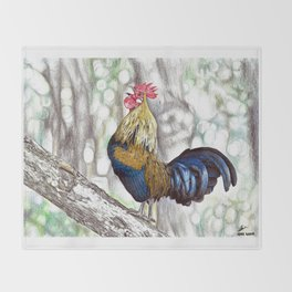 Red Junglefowl (Original Available for sale) Throw Blanket