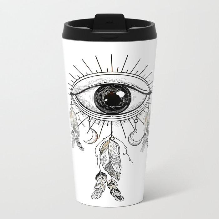 eye Metal Travel Mug