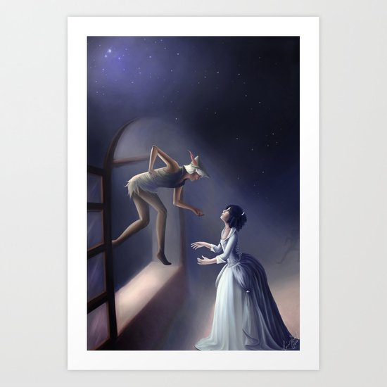 Peter Pan & Wendy Art Print