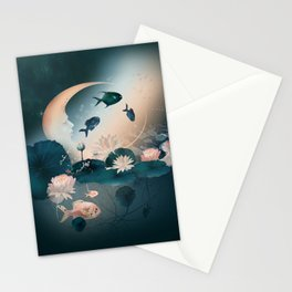 Lake sleeps Stationery Cards