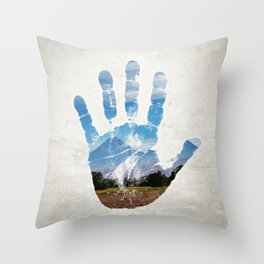 Earth Print Throw Pillow