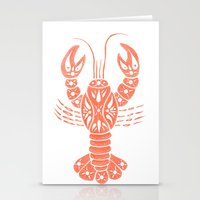 lobster Stationery Cards featuring Lobster by NoelleGobbi