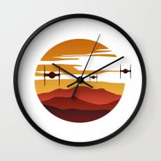 To the sunset Wall Clock