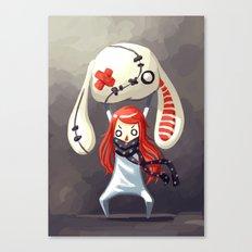 Bunny Plush Canvas Print