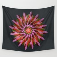cyberpunk Wall Tapestries featuring Falling Bloom by Obvious Warrior
