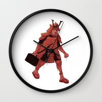 samurai Wall Clocks featuring Samurai by edusá studio