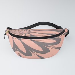 Modern Flower Peach and Gray Fanny Pack