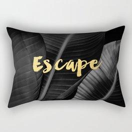 Escape - gold Rectangular Pillow