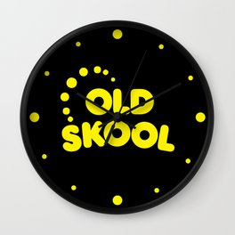Old Skool Music Quote Wall Clock
