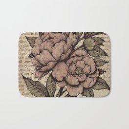Peonies  - Color Bath Mat