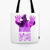 2pac Tote Bags featuring Notorious Big by Gold Blood
