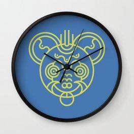 Bear Mask Wall Clock