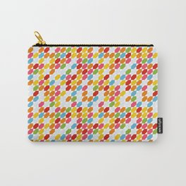 Rainbow gems geometric pattern, hexagon abstract colorful diamonds Carry-All Pouch