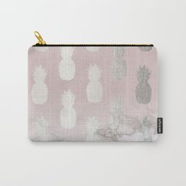 Golden Pineapple Madness on Marble Carry-All Pouch