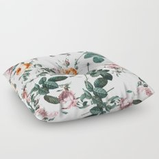 Floral and Winged Darter Floor Pillow