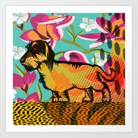 Dachshund  pop art Art Print