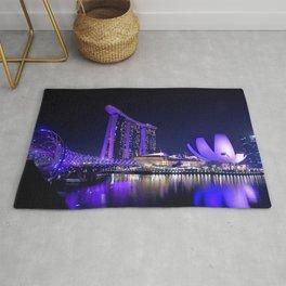 Blue Singapore by #Bizzartino Rug