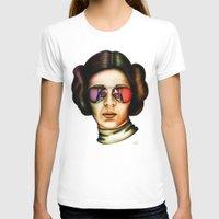 princess leia T-shirts featuring STAR WARS Princess Leia  by Tom Brodie-Browne