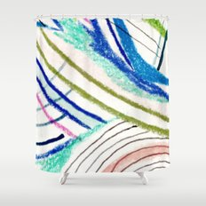 Wild: a mixed media piece in a variety of bright colors Shower Curtain