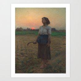 The Song of the Lark, Jules Adolphe Breton, 1884 Art Print